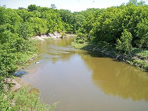 Lac qui Parle River - The Lac qui Parle River in Lac qui Parle Township in 2007