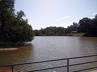 Lake Roland (Maryland) reservoir in Towson, Maryland, United States