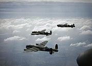 Lancaster B MkI 44 Sqn RAF in flight 1942