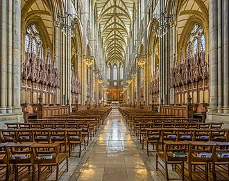 Lancing College - The interior facing east