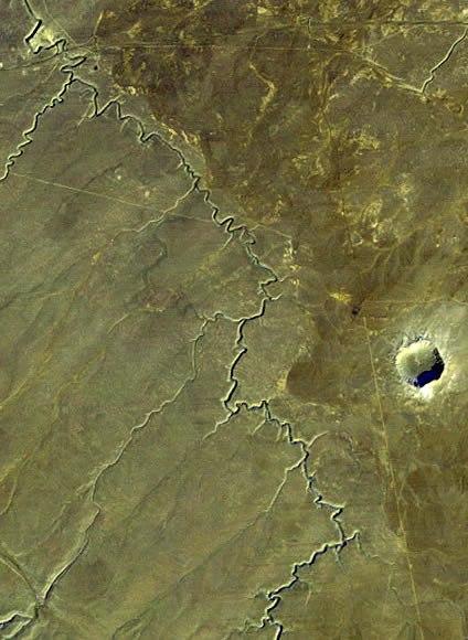 Landsat Meteor Crater