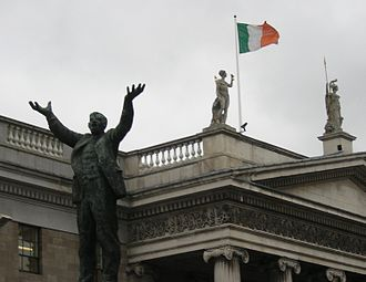 Irish Citizen Army - Statue of ICA leader James Larkin next to the GPO, HQ of the ICA during the Easter Rising