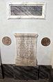 Lastra funebre da roma, cil vi 8929, ara del 175 ca. cil vi 11501, e due bolli laterizi.JPG