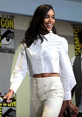 Actress Laura Harrier attending the 2015 San Diego Comic-Con International