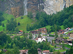 pohled na Lauterbrunnen