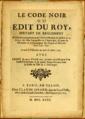 Le code noir ou Edit du roy de mars 1685, Girard 1735.png