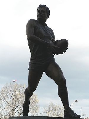 Hawthorn Football Club - Statue of former Hawthorn player, Leigh Matthews, at the Melbourne Cricket Ground.