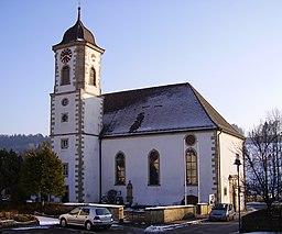 Die St. Georg Kirche in 73575 Leinzell.