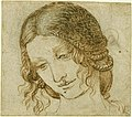 Leonardo da Vinci - RCIN 912517, The head of Leda c.1505-6.jpg