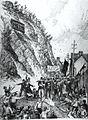 Les emeutes de Quebec - Les Canadiens-francais attaques dans la rue Champlain.jpg