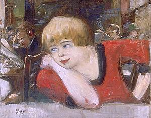 Romanisches Café - Lesser Ury: Mädchen im Romanischen Café, 1911