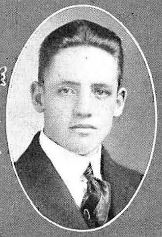 Lester Barnard - Barnard pictured in Ozarko 1916, Missouri State yearbook (while attending the college)