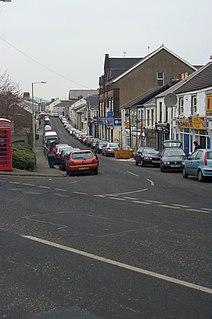 Aberaman village in Wales, Britain