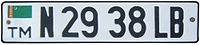 License plate of Turkmenistan.jpg