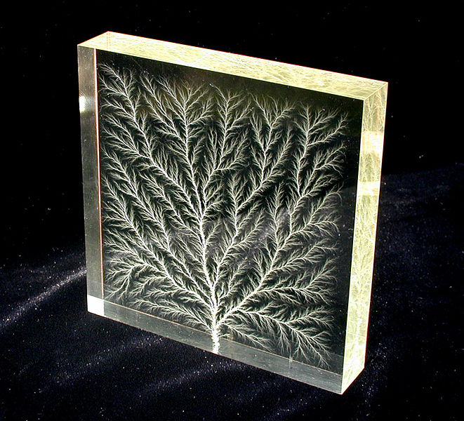 File:Lichtenberg figure in block of Plexiglas.jpg