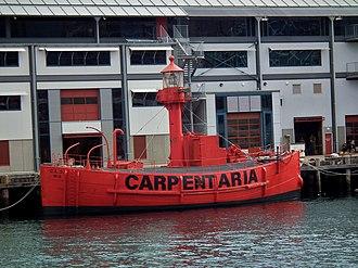 "Lists of lightvessels - Image: Lightship CLS4 ""Carpentaria"" (7854156048)"