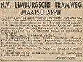 Limburger Koerier vol 097 no 201 advertisement N.V. Limburgsche Tramweg Maatschappij.jpg