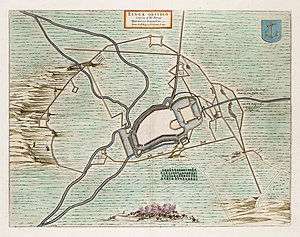 Lingae Obsidio - Siege of Lingen in 1597 by Maurice of Orange.jpg