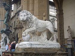 Lion of Loggia de' Lanzi left.JPG