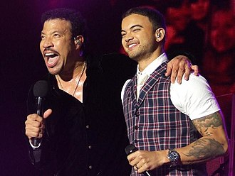 "Lionel Richie - Richie and Guy Sebastian performing ""All Night Long"" during Richie's 2011 Australian and New Zealand tour"