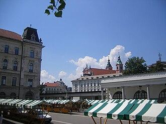 Ljubljana Central Market - Open market at Pogačar Square