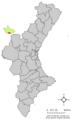 Localització de Casas Bajas respecte del País Valencià.png