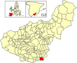 Albuñol - Image: Location Albuñol