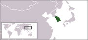 map showing South Korea
