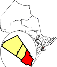 Mississaugas beliggenhed i Ontario.