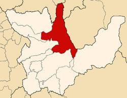 Location of the province Leoncio Prado in Huánuco.png