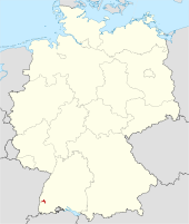 Locator map FR (town) in Germany.svg