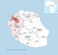 Locator map of Kanton Saint-Paul-1 2018.png