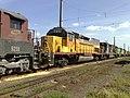 Locomotiva de comboio que passava sentido Boa Vista pelo pátio da Estação Pimenta em Indaiatuba - Variante Boa Vista-Guaianã km 217 - panoramio.jpg