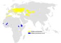 Locustella luscinioides distribution map.png