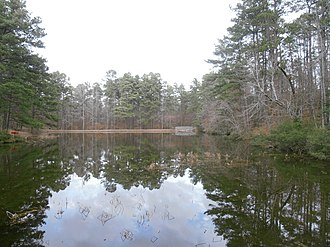 Logoly State Park - A three-acre lake at Logoly State Park
