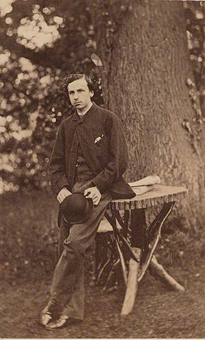 John Russell, Viscount Amberley - Lord Amberley in the 1860s, on an albumen carte-de-visite