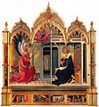 Lorenzo Monaco, Annunciation, 1420-25, Church of Santa Trinita, Florence.jpg
