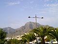 Los Cristianos vista a montaña de adeje.JPG