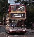Lothian Buses bus Dennis Trident Plaxton President Harlequin livery Route 26 Heart branding, 16 August 2007.jpg
