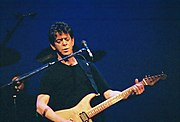 Lou Reed performing at the Arlene Schinitzer Concert Hall in Portland, Oregon.