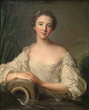 Louise Henriette de Bourbon - Portrait by Jean-Marc Nattier, 1743