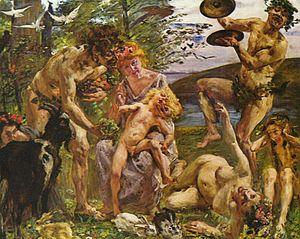 Kunsthalle Bremen - Die Jugend des Zeus (1905) Lovis Corinth
