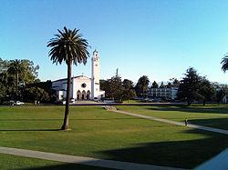 Loyola Marymount SunkenGardens SacredHeartChapel.jpg