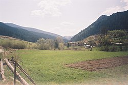 "view of the village from mineral spring ""Medokýš"""