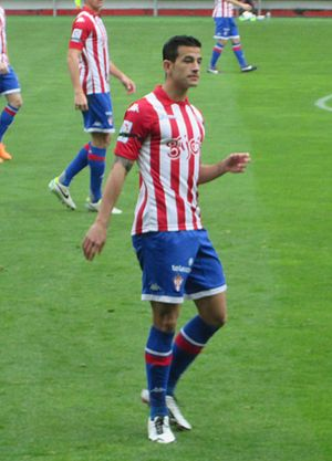 Luis Hernández Rodríguez - Hernández playing for Sporting Gijón in 2014