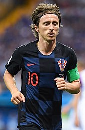 cfca3cfea99 Modrić at the 2018 FIFA World Cup. He is said to anchor Croatia's second  Golden Generation.