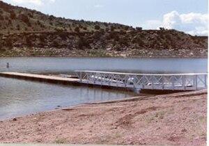 Lyman Reservoir - The floating dock