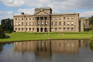 Pride and Prejudice (1995 TV series) - Lyme Park, Cheshire served as the exterior of Pemberley, Darcy's estate in Derbyshire