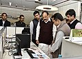 M. Venkaiah Naidu and the Minister of State for Information & Broadcasting, Col. Rajyavardhan Singh Rathore visiting the Directorate of Advertising and Visual Publicity (DAVP), at Soochna Bhawan, in New Delhi (1).jpg