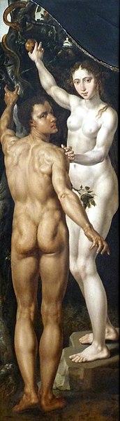 File:M. v. Heemskerck-Musée des Bx-Arts Strasbourg-Gédéon-Adam Eve-Ausschnitt 2.jpg